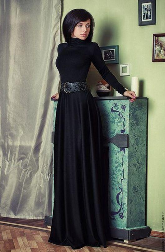 Платье в макси длине, платье тёплое, осеннее платье ручной работы, платье из Итальянских тканей. Сделано в Санкт-Петербурге. Дизайнер Август van der Вальс