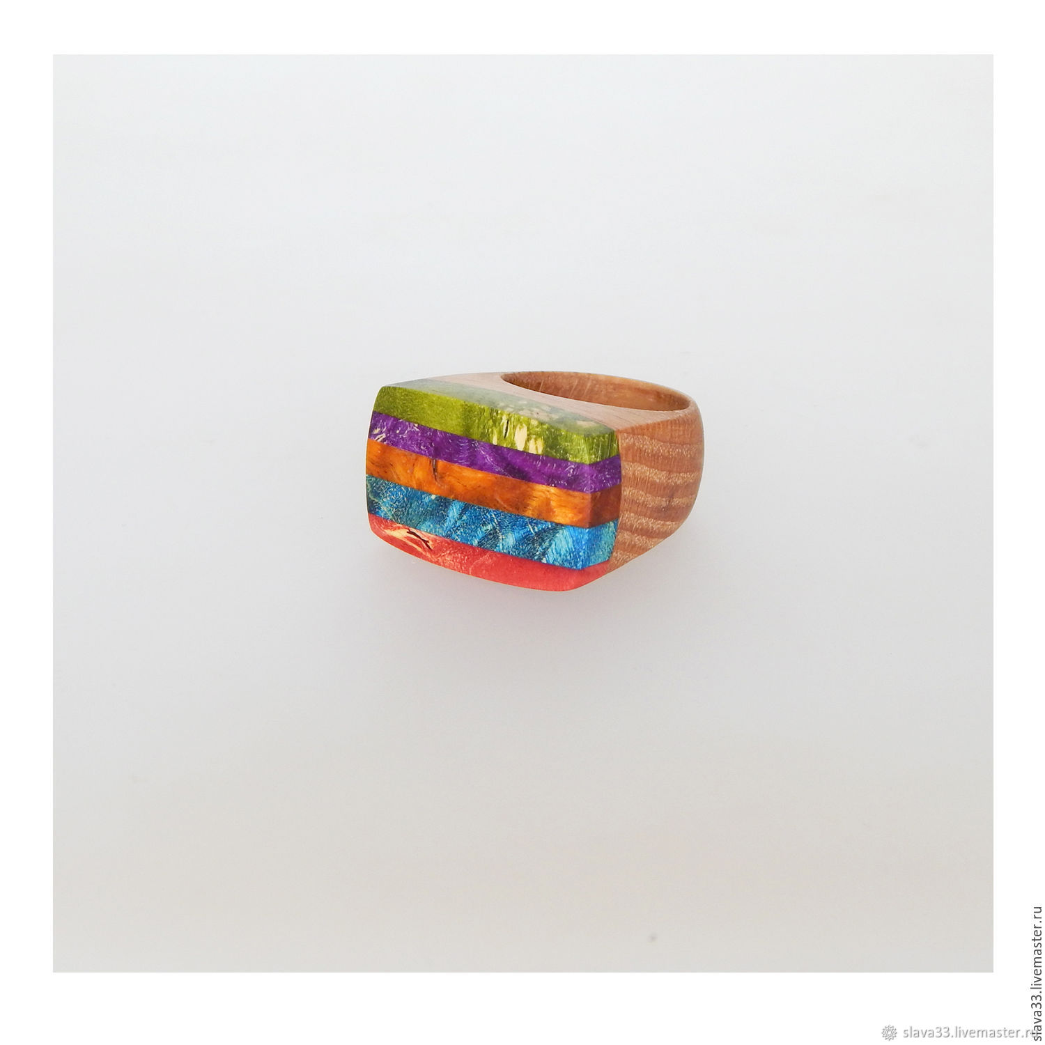 The colored ring of wood, Rings, Vladimir,  Фото №1