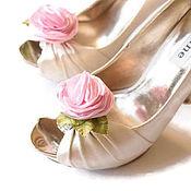 """Украшения ручной работы. Ярмарка Мастеров - ручная работа Клипсы для туфель """"Розовые Розы"""". Handmade."""