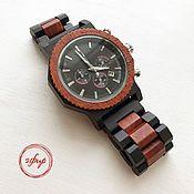 Часы наручные ручной работы. Ярмарка Мастеров - ручная работа Часы из сандалового дерева с хронометром. Handmade.