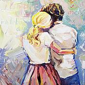 """Картины и панно ручной работы. Ярмарка Мастеров - ручная работа Картина маслом """"Люблю тебя"""". Handmade."""