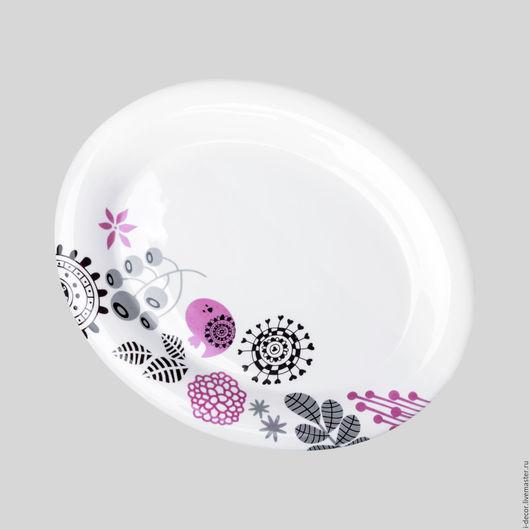 Фарфоровое блюдо из Розовой коллекции