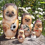 Русский стиль handmade. Livemaster - original item Matryoshka hedgehogs. Handmade.