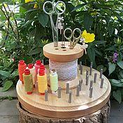 Материалы для творчества handmade. Livemaster - original item Organizer for needlework round natural color.. Handmade.