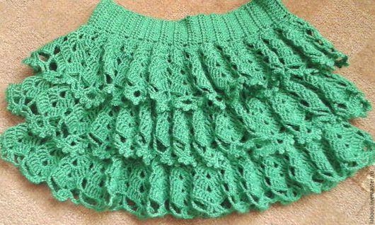 Одежда для девочек, ручной работы. Ярмарка Мастеров - ручная работа. Купить Ажурное кружево. Handmade. Ярко-зелёный, крючок, подарок