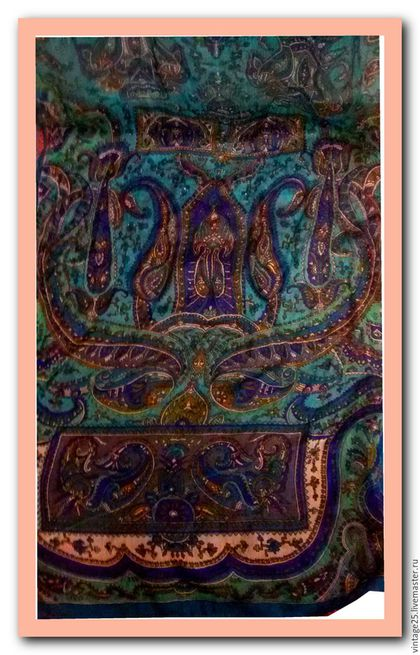 Винтажная одежда и аксессуары. Ярмарка Мастеров - ручная работа. Купить Шарф из натурального индийского  шелка. Handmade. Тёмно-синий