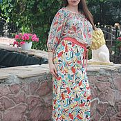 Одежда handmade. Livemaster - original item Stylish knitted long dress. Handmade.