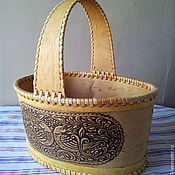 Для дома и интерьера handmade. Livemaster - original item Basket from a bark big