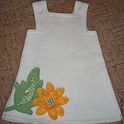 Работы для детей, ручной работы. Ярмарка Мастеров - ручная работа платье из полушерсти для девочки. Handmade.