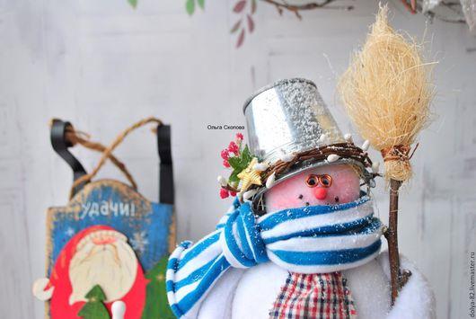 Новый год 2017 ручной работы. Ярмарка Мастеров - ручная работа. Купить Снеговик. Снеговик. Снеговик). Handmade. Снеговичок, ольга скопова