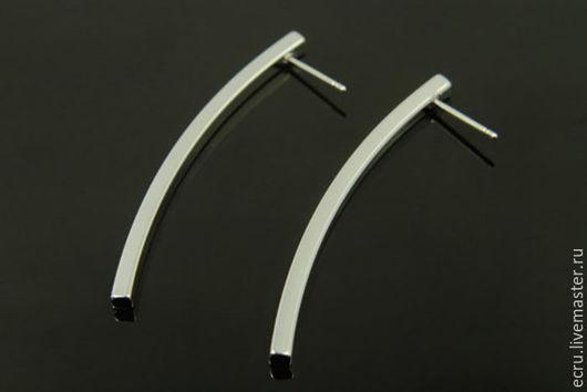 Швензы длинные, родиевое покрытие , фурнитура Южная Корея