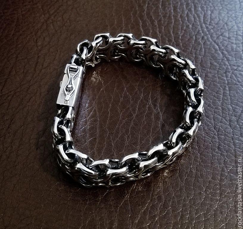 браслет серебряный фото