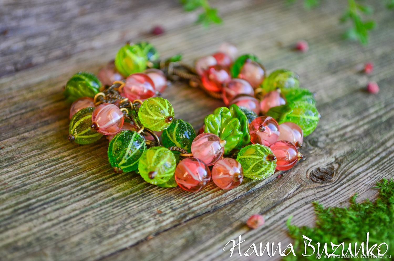 bracelet: Gooseberry x Pink Currant, Bead bracelet, Minsk,  Фото №1