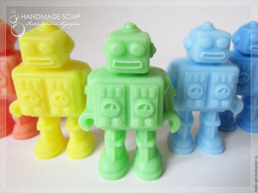 """Мыло ручной работы. Ярмарка Мастеров - ручная работа. Купить """"Робот"""", мыло ручной работы. Handmade. Комбинированный, мыло на заказ"""
