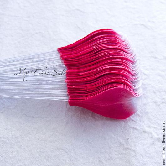 Бумажные лепестки малберри. Цветы для скрапа, топиариев, флористических композиций, фотосессий, в том числе и подводных. Май Тай - все для флористики из Таиланда