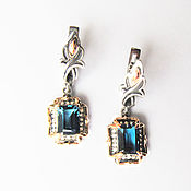 Украшения handmade. Livemaster - original item Silver earrings with London topaz. Handmade.