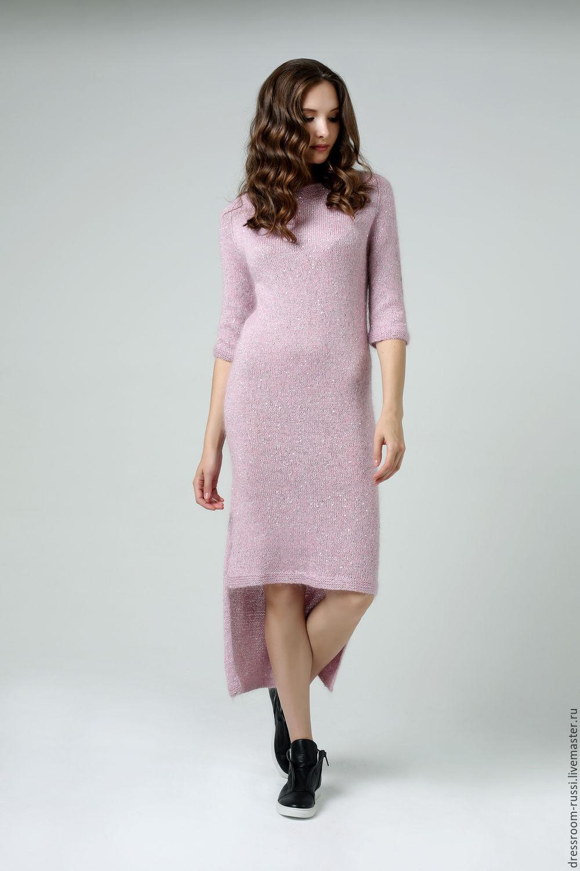 97b25a9b774 Платья ручной работы. Ярмарка Мастеров - ручная работа. Купить Вязаное  платье нежно розового цвета ...