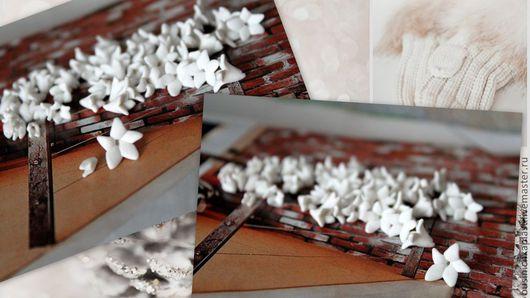 Цветы ручной работы. Ярмарка Мастеров - ручная работа. Купить Бусины Весенние цветы. Handmade. Цветы, Термопластика, материалы для украшений