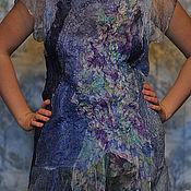 Одежда ручной работы. Ярмарка Мастеров - ручная работа Блузка-туника валяная Нежная фиалка. Handmade.