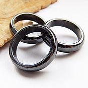 Украшения handmade. Livemaster - original item A ring of magnetic hematite 21 size. Handmade.