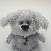 Куклы и игрушки ручной работы. Ярмарка Мастеров - ручная работа Вязаный серый щенок Шарик. Handmade.