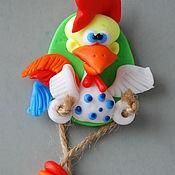 Подарки к праздникам ручной работы. Ярмарка Мастеров - ручная работа Магнит на удачу Петушок. Handmade.