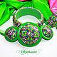 Jewelry sets: Bracelet, earrings, kaleidoscope green pendant. Jewelry Sets. Oksanasan. Online shopping on My Livemaster.  Фото №2