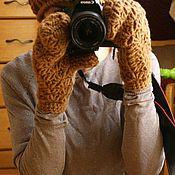 Аксессуары ручной работы. Ярмарка Мастеров - ручная работа Шапка и ажурные варежки. Handmade.