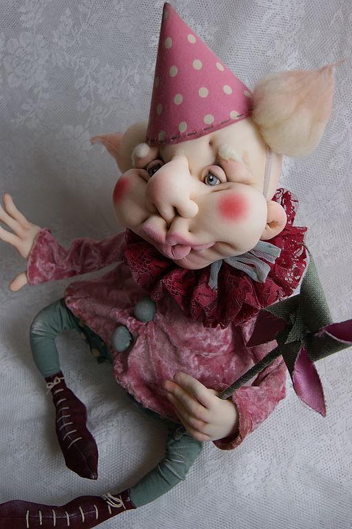 Человечки ручной работы. Ярмарка Мастеров - ручная работа. Купить Кукла Клоун Манюнь. Handmade. Подарок, проволока медная