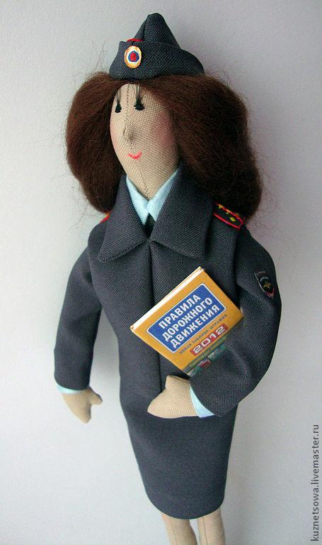 Мягкая игрушка полицейского своими руками