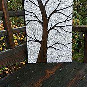 """Картины и панно ручной работы. Ярмарка Мастеров - ручная работа Панно """"Зима"""" в технике string art. Handmade."""