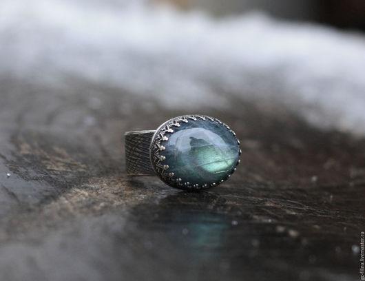 """Кольца ручной работы. Ярмарка Мастеров - ручная работа. Купить кольцо """"Лед на реке"""", серебро, лабрадорит. Handmade. перстень подарок"""