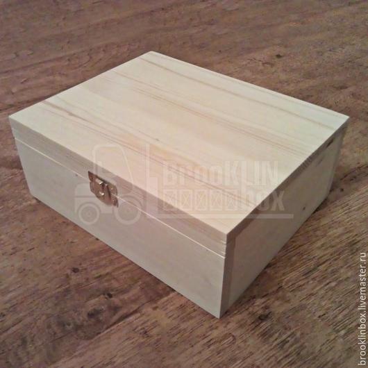 Деревянная чайная шкатулка из массива сосны. Отличный подарок для себя и своих близких, а также идеальная заготовка для де купажа и росписи.