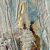 Картины и панно manualidades. Livemaster - hecho a mano Casa en la montaña. La Serie De La Lluvia. Handmade.