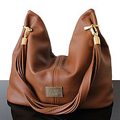 Сумки и аксессуары handmade. Livemaster - original item Granville Red hobo bag made of soft genuine leather. Handmade.