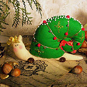 Подарки к праздникам ручной работы. Ярмарка Мастеров - ручная работа Новогодняя мини-улитка. Handmade.