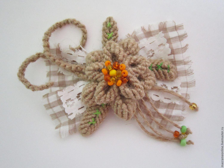 Макраме и схемы плетения цветы
