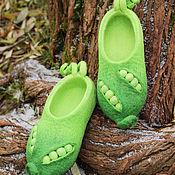 """Обувь ручной работы. Ярмарка Мастеров - ручная работа Валяные тапочки """" Горохи NEW"""". Handmade."""