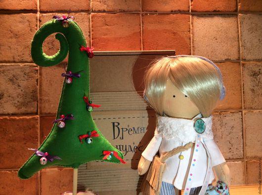 Куклы тыквоголовки ручной работы. Ярмарка Мастеров - ручная работа. Купить Интерьерная кукла Анюта. Handmade. Интерьерная кукла