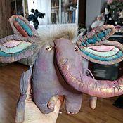 Мягкие игрушки ручной работы. Ярмарка Мастеров - ручная работа Радужный слоник. Handmade.
