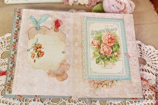 """Ежедневники ручной работы. Ярмарка Мастеров - ручная работа. Купить Блокнот """"Roses Provence"""". Handmade. Голубой, ежедневник, скрап материалы"""
