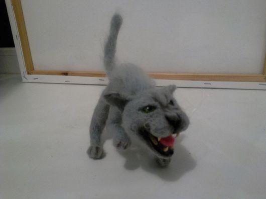 Игрушки животные, ручной работы. Ярмарка Мастеров - ручная работа. Купить Кот валяный из шерсти прикольный. Handmade. коты и кошки