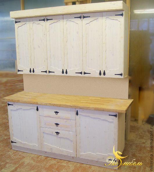Мебель ручной работы. Ярмарка Мастеров - ручная работа. Купить Маленькая кухня под старину с фасадами под роспись. Handmade.