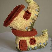 """Обувь ручной работы. Ярмарка Мастеров - ручная работа Домашние тапочки """"Домик гнома"""". Handmade."""
