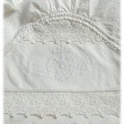 Работы для детей, ручной работы. Ярмарка Мастеров - ручная работа Крыжма для крещения, крестильная пеленка с капюшоном, крестины. Handmade.