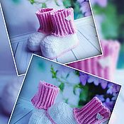 Пинетки ручной работы. Ярмарка Мастеров - ручная работа Вязанные пинетки для девочек и мальчиков. Handmade.