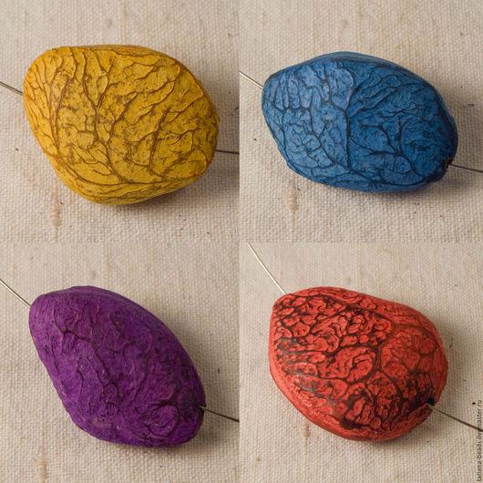 Для украшений ручной работы. Ярмарка Мастеров - ручная работа. Купить Бусины цветные крупные из ореха панги (Филиппины), 30-40 мм. Handmade.