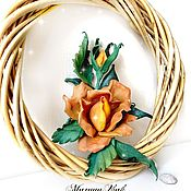 Украшения handmade. Livemaster - original item Brooch-pin: Sea Rose. Handmade.