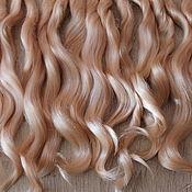 Материалы для творчества handmade. Livemaster - original item Hair for dolls (champagne) Curls Curls for dolls. Handmade.
