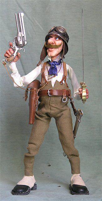 Коллекционные куклы ручной работы. Ярмарка Мастеров - ручная работа. Купить Штабс-капитан Лунин. Находится в частной коллекции. Handmade.